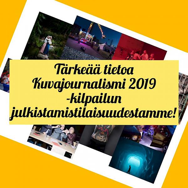 Kuvajournalismi 2019 -kilpailun julkistamistilaisuus peruttu